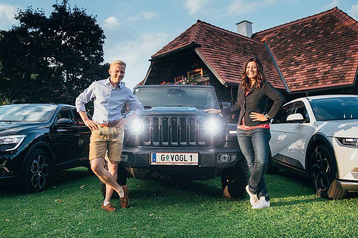 Willi Gabalier und Sandra Thier werben fürs Autoabo von VOGL + CO