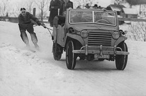 Skijöring Mitterdorf 1951