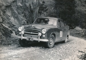 Oskar Vogl bei der internationalen österreichischen Alpenfahrt 1958