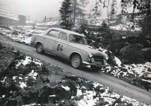 Oskar Vogl bei der Österreichische Alpenfahrt 1958